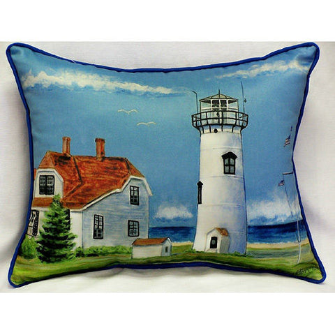 Betsy Drake Chatham Lighthouse Pillow- Indoor/Outdoor