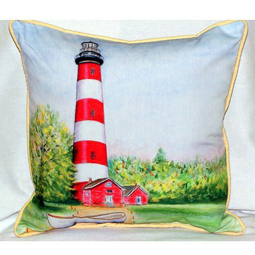Betsy Drake Chincoteauge Lighthouse Pillow- Indoor/Outdoor