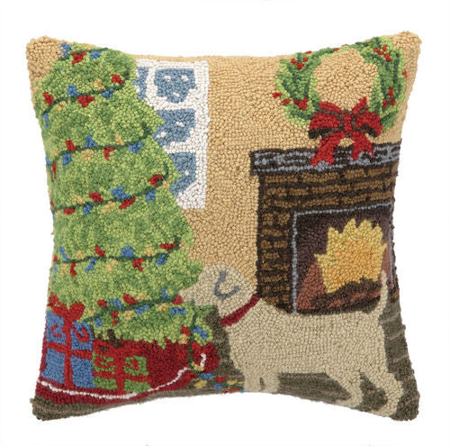 Christmas Lab Hook Pillow