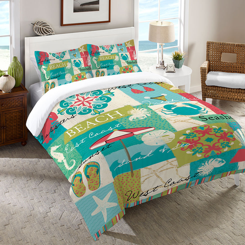 Coastal Party Duvet Cover