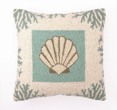 Coral Seashell Hook Pillow