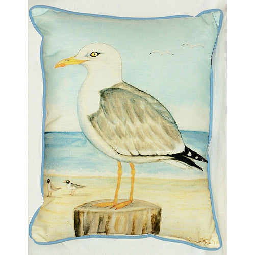 Dick's Sea Gull Pillow- Indoor/Outdoor