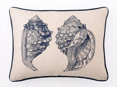 Double Conch Embroidered Pillow
