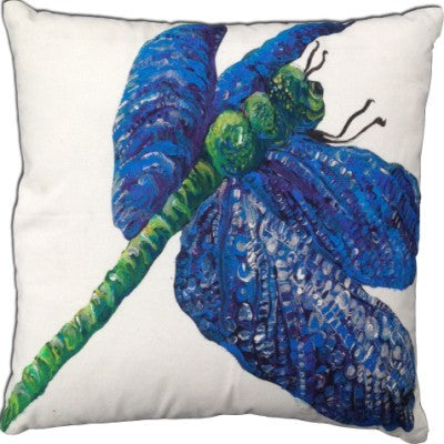 Dragonfly A Cotton Canvas Pillow- Indoor/Outdoor- Oversized