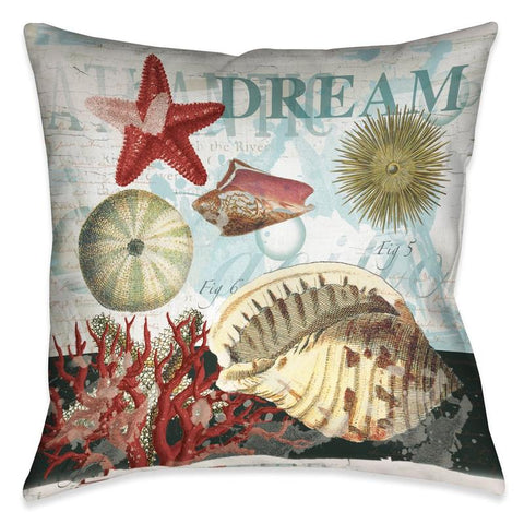 Dream Shells Outdoor Decorative Pillow