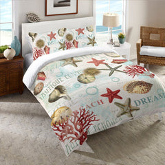 Dream Beach Shells Comforter