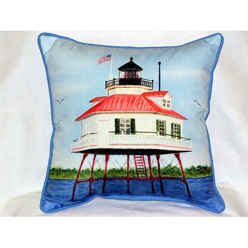 Betsy Drake Drum Point Lighthouse Pillow- Indoor/Outdoor