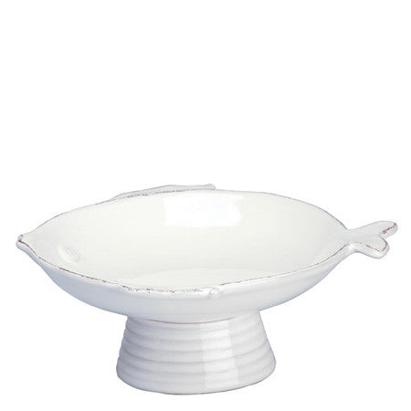 Lastra Fish Small Footed Compote by Vietri