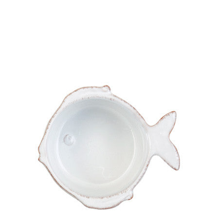 Lastra Fish Condiment Bowl Set of 4 by Vietri