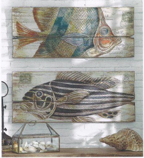 MDF Wall Plaque with Fish Image