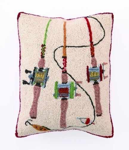 Fishing Rods Hook Pillow