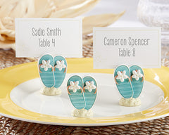 Ocean Front Flip Flop Place Card/Photo Holder- Set of 6