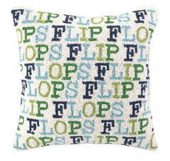 Flip Flops Hook Pillow