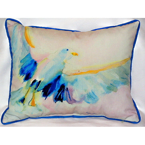 Betsy Drake Flying Gull Pillow- Indoor/Outdoor