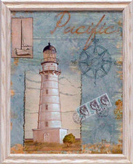 Seacoast Lighthouse II Framed Art Print