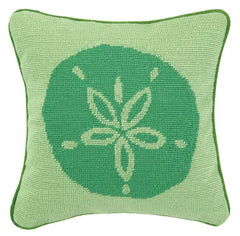 Sand Dollar Needlepoint Pillow