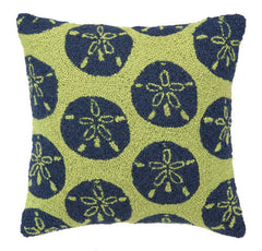 Green Sand Dollars Hook Pillow