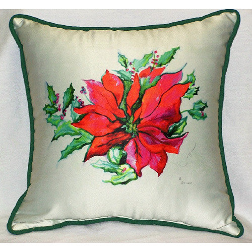 Poinsettia Pillow Indoor/Outdoor
