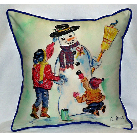 Snowman Large Pillow Indoor/Outdoor Pillow
