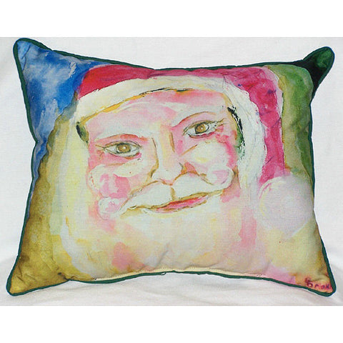 Santa Face Large Pillow Indoor/Outdoor Pillow