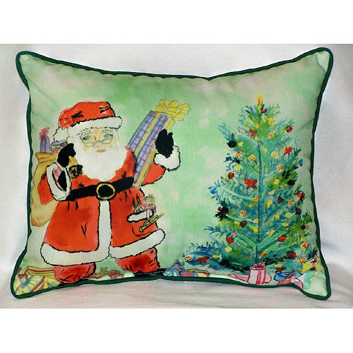 Santa & Tree Large Pillow Indoor/Outdoor Pillow