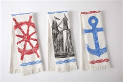 Maritime Sketch Hand Towel Set - Multi