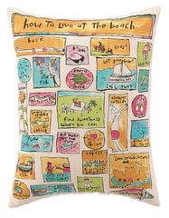 How to Live at the Beach Pillow