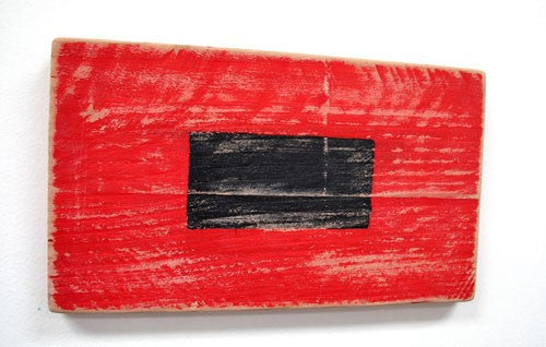 Nautical Wood Signal Flag Hurricane Warning