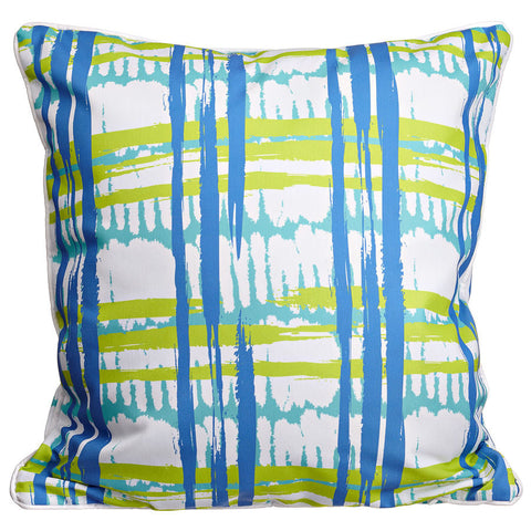Coastal Grid Pillow