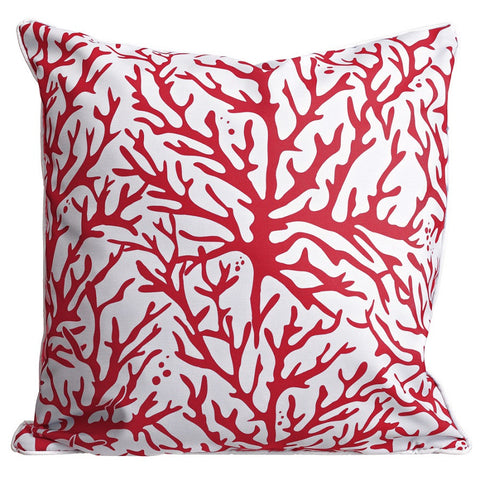 Coral Red Pillow