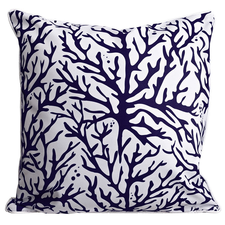 Coral Navy Pillow