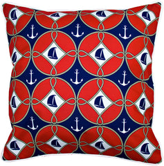 Sailboats & Anchors Pillow