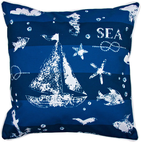 Blue Sea Mix Pillow