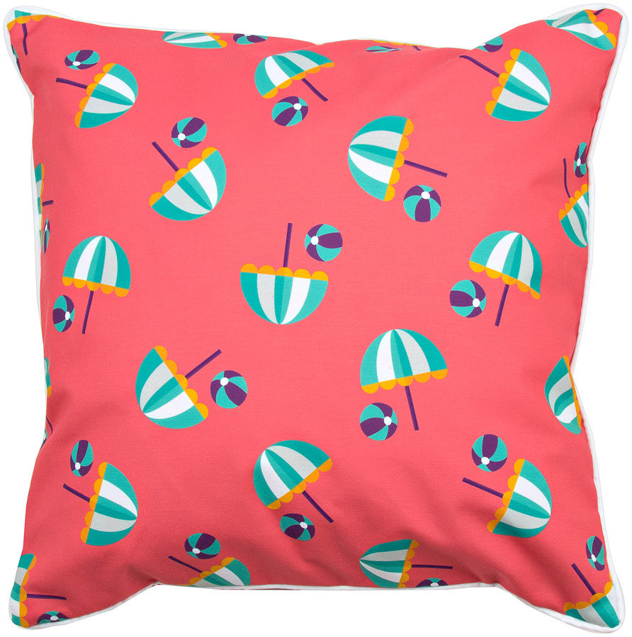 Umbrellas & Beach Balls Pillow