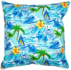 Hawaiian Surf Pillow