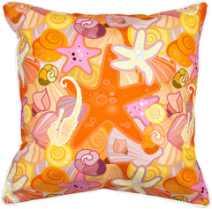 Sea Life Pastel Pillow
