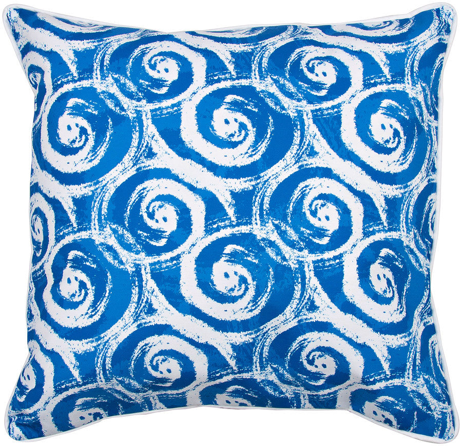 Swirls Blue Pillow