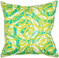 Swirls Lime Pillow