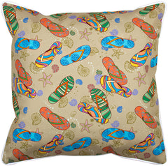 Beach Flip Flops Pillow