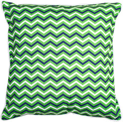 Big Pine - Compass Rose Green & Chevron Pillow