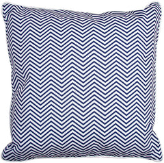 Big Pine - Compass Rose Navy & Chevron Pillow