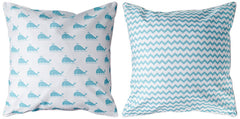 Marathon - Whale & Chevron Pillow