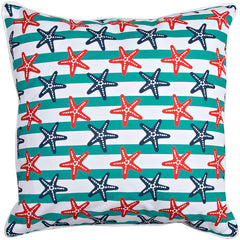 Sanibel - Starfish & Stripes Pillow