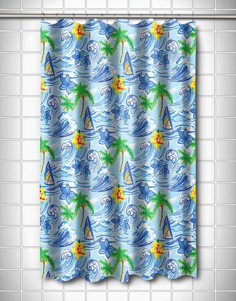 Hawaiian Surf Shower Curtain