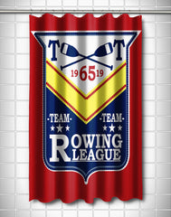 Rowing League Shower Curtain