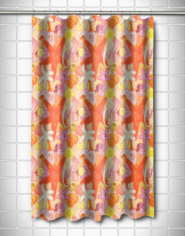 Sea Life Pastel Shower Curtain