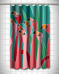 Flamingo Walk Shower Curtain