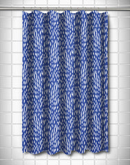 Hipster Cobalt Shower Curtain