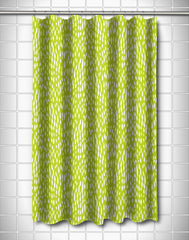 Hipster Lime Shower Curtain