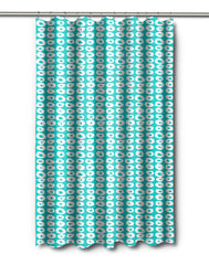Doughnuts Aqua Shower Curtain